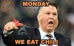 Monday we eat Chili WK 2014, Netherlands vs Chili
