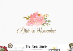 Watercolor Bouquet Floral Logo Design – The Paris Studio – Creative Logo Design Branding NYC – Paris