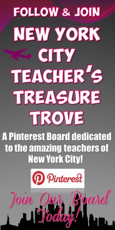 A Pinterest Board dedicated to the amazing teachers of New York City! Pin #TeachersPayTeachers #LessonPlans, tips, tricks, and classroom management secrets! Please e-mail MrEduTechnology@gmail.com if you'd like to contribute! We're looking for creative NYC Teachers to fuel this board!