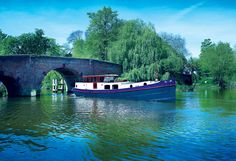 Dutch Barge Voyager Widebeam Canal Boat | Aqualine
