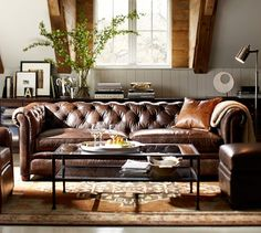 Pillow... Pieced Leather Pillow Cover | Pottery Barn
