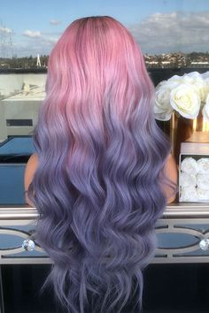121 violet hair color ideas to look glamorous – page 1 Pretty Hair Color, Beautiful Hair Color, Hair Dye Colors, Ombre Hair Color, Bright Hair Colors, Unicorn Hair Color, Aesthetic Hair, Dye My Hair, Blue Hair