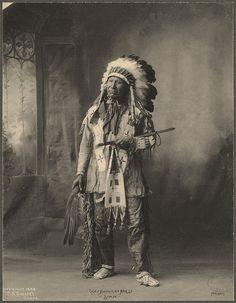Chief American Horse, Sioux Rinehart, Frank A. (photographer) 1899