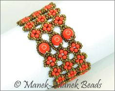 Four Leaf Clover Cuff by Manek-Manek Beads - Jewelry | Kits | Beads | Patterns