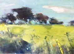 Summer Fields near Ludgvan. 22 x 30cm. Oil on board.