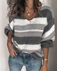 Wofupowga Little Kids Girls Pullover Fashion Stripe Crewneck Knitted Jumper Sweaters