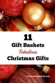 Gifts baskets are awesome for gift giving because they can be made so many ways.Check out these amazing gift baskets that make perfect Christmas gifts.