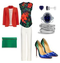 A fashion look from August 2015 featuring red top, red jacket and high-waisted pants. Browse and shop related looks. Wallis, David Yurman, Diane Von Furstenberg, Victoria Beckham, Balmain, Christian Louboutin, Shoe Bag, Polyvore, Stuff To Buy