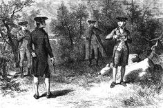 Hot words were passed and a challenge was given There has been but one duel fought in Montgomery county. About the year 1839 Bush W. Bell (Bushrod W. Bell) and John S. Bailey, two very prominent and popular citizens, had ... Read More