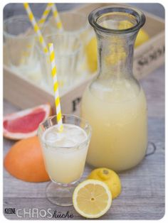 Zitronen Grapefruit Limonade