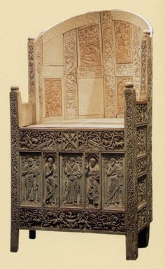 Chair of Bishop Maximien, Constantinople – (mid-500s) ivory  Ravenna, Museo Arcivescovile  Plazy, History of Art in Pictures, p. 52