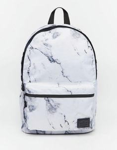 ASOS | ASOS Backpack in Marble Print at ASOS