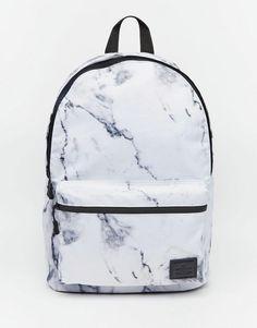 ASOS   ASOS Backpack in Marble Print at ASOS