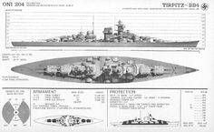 Battleship Tirpitz, A503 FM30-50 booklet for identification of ships, published by the Department of Naval Intelligence Division of the US Navy