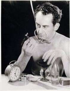 Man Ray's career is distinctive above all for the success he achieved in both the United States and Europe. First maturing in the center of American modernism in the 1910s, he made Paris his home in the 1920s and 1930s, and in the 1940s he crossed the Atlantic once again, spending periods in New York and Hollywood. His art spanned painting, sculpture, film, prints and poetry, and in his long career he worked in styles influenced by Cubism, Futurism, Dada and Surrealism. He also successful...