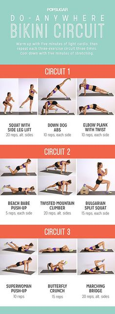 Summer Prep: Do-Anywhere Bikini Circuit-great combinations