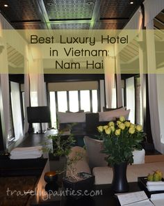 I've stayed at several Four Seasons, Ritz Carltons, and Fairmont resorts, but this is my favorite property out there! There is nothing that Nam Hai hasn't thought of!