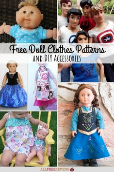 Toy and Doll Craft Projects and Ideas 46 Free Doll Clothes Patterns and DIY Accessories My Life Doll Clothes, Sewing Doll Clothes, Sewing Dolls, Diy Clothes, Doll Sewing Patterns, Doll Dress Patterns, Clothing Patterns, Teddy Bear Clothes, Doll Crafts