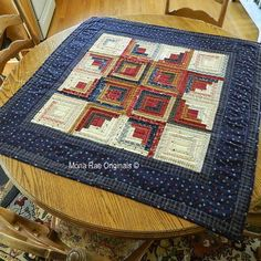 Patriotic Log Cabin Star 37 Inch  Wall Hanging  by MROriginals, $199.00