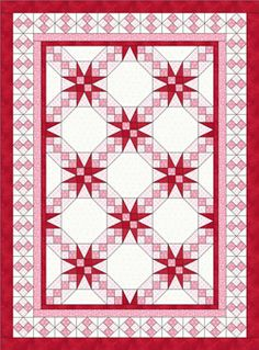 Tennessee Waltz Quilt – Quilt in a Day Books Star Quilts, Scrappy Quilts, Easy Quilts, Quilt Block Patterns, Quilt Blocks, Quilt Boarders, Quilt In A Day, Two Color Quilts, Quilt Of Valor