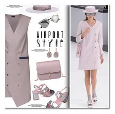 """Jet Set: Airport Style"" by paculi ❤ liked on Polyvore featuring Club Monaco, Chanel, Lattori and airportstyle"