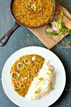 Punjabi 'Maah-Chhole-ki-Daal' -  Vegan Mixed Lentils Curry
