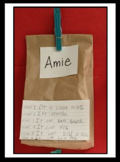 Inference Bags  Also create some with evidence---to pull out