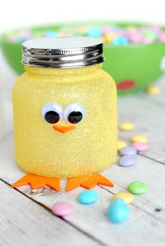 Easter Chick Jar