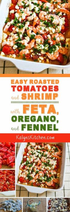 Shrimp fans will LOVE this Easy Roasted Tomatoes and Shrimp Recipe with Feta…