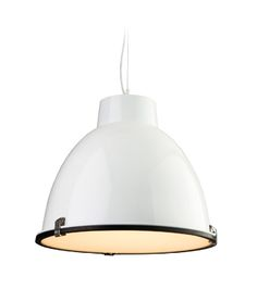 Firstlight 'Manhattan' 1 Light Pendant, White With Frosted Glass Diffuser…