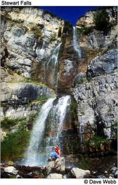 Stewart Falls, Near Aspen Grove (Sundance), 3.5 miles out and back- great for kids