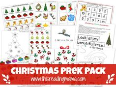Free Nativity and Christmas Printable Packs