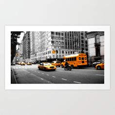 New York Streets Art Print by hannes cmarits (hannes61) - $17.00