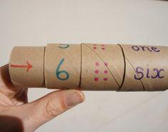 Apprendre les nombres avec un rouleau de papier toilette Number Roll for Math Learning