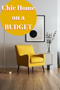 Top tips c for a chic home on a budget. 5 awesome ideas to help you create a beautiful and stylish home that is inexpensive to create. Tons of great money saving hacks for your cool interiors Inexpensive Home Decor, Easy Home Decor, Hanging Art, Hanging Plants, Diy Artwork, Herbs Indoors, Unique Lighting, Window Panels, Saving Ideas