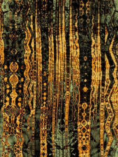 The golden Forest by timemit - I found this on a mosaic board, but it doesn't appear to be a mosaic. It's a great idea for one though! Reminds me of Klimt.