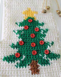 Snowman and Tree Stockings Crochet Pattern