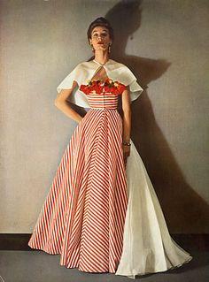 Grès (Germaine Krebs) 1953 Evening Gown, Photo Pottier