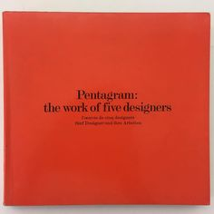 Always this brilliant book. Pentagram. The work of five designers. 1972. Crosby Fletcher Forbes Kurlansky Grange. Superstars all. Email if you want@ideanow.online #pentagam #five #star #1972