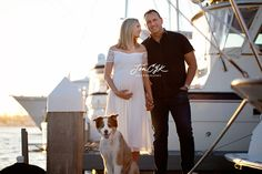 Obsessed with this unique maternity session in Orange County. Sunsets, boats, and a glowing mama to be. YES!