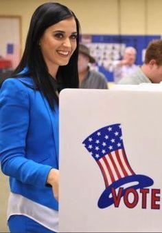 Katy Perry rockin the vote