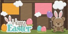 Happy Easter Scrapbook Page Kit