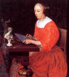 by Eglon van der Neer, A Lady Drawing. c. 1665. Wallace Collection, London