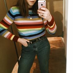 Found at Common Sort - striped rainbow sweater