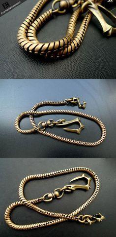 Brass biker trucker dragon hook wallet Chain for chain wallet biker wallet…