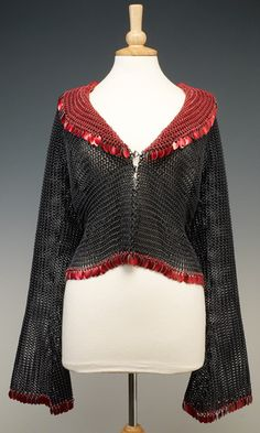 Jacket with Aluminum Wire Chain Mail and Metal Drops - Fire Mountain Gems and Beads