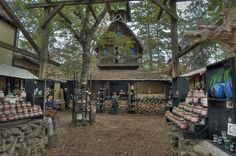 Clay pottery craft booth at Texas Renaissance Festival