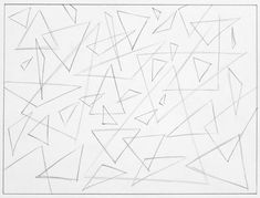 This is an abstract drawing triangles exercise. This is will help warm up your hand before any serious drawing.