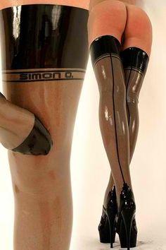 heels legs latex