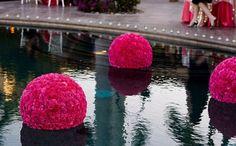 good idea for a pool side wedding